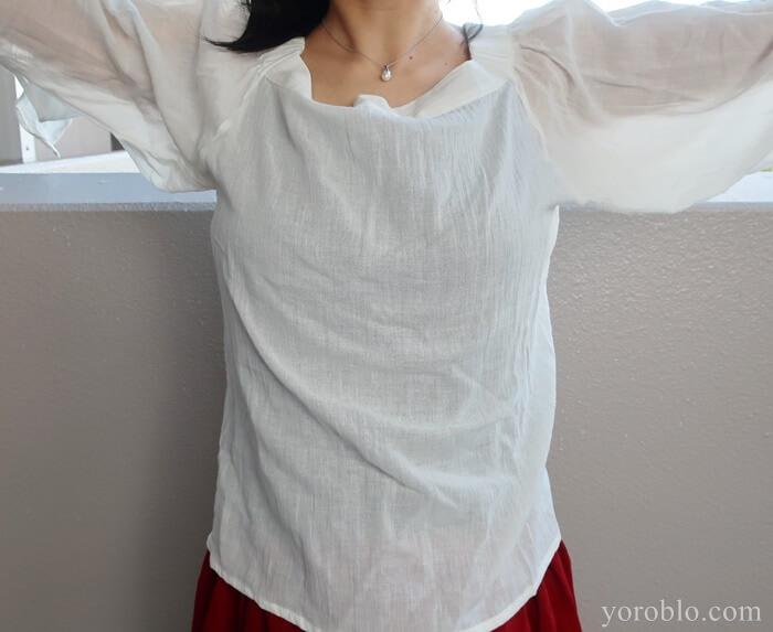 ナチュラルセンスの白シャツ
