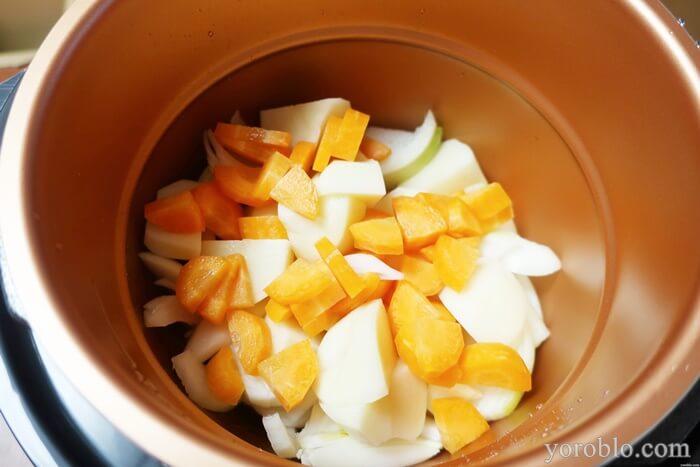 圧力鍋で作ったカレーのレシピ
